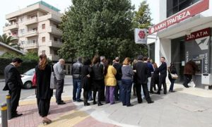 Cyprus bank queue