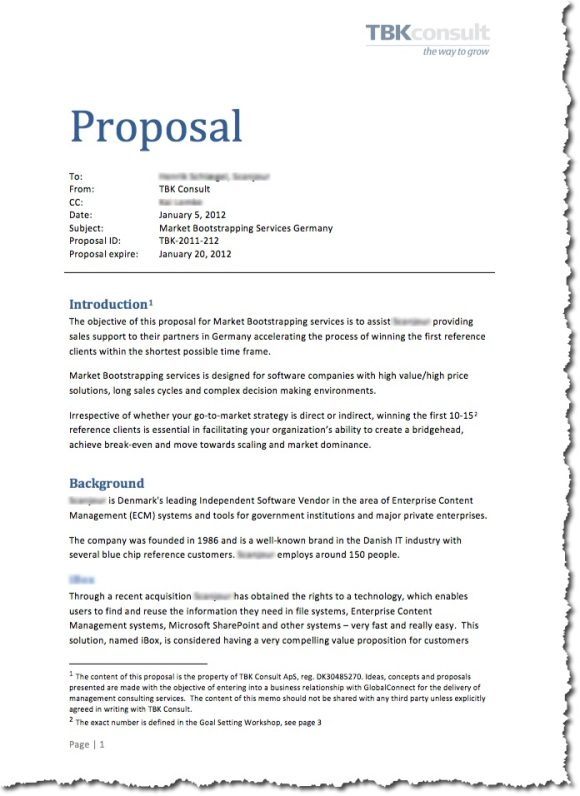 Writing Business Proposal