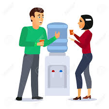 Cartoon Characters People Around Water Cooler Gossip Concept.. Royalty Free  Cliparts, Vectors, And Stock Illustration. Image 124635636.